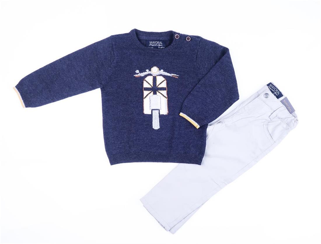b4d7631f7 Conj. jersey intarsia pantalo MAYORAL