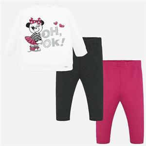 Conj. leggings panda