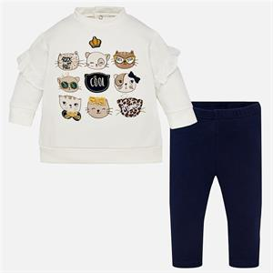 Conj. leggings gatos