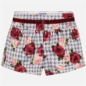 Short terciopelo estampado