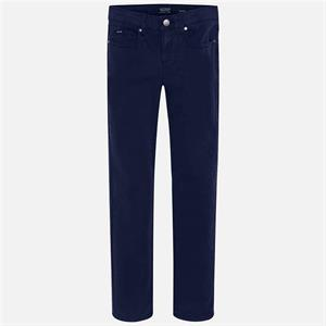 Pantalon sarga slim fit basic