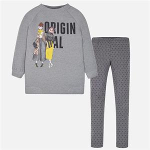 Conj. leggings felpa print